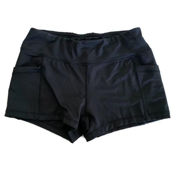 Pants - 🌺 4/$20 Black Workout Spandex Bike Shorts Pockets